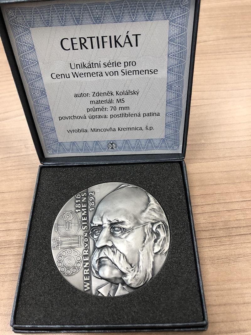 Ocenění - stříbrná medaile